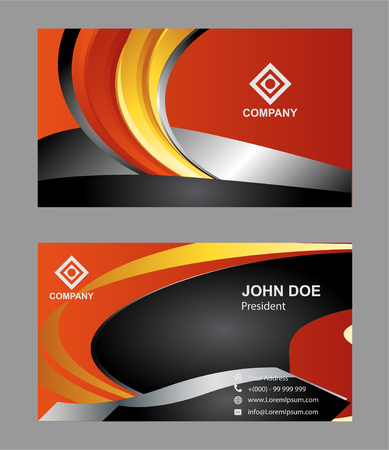 business cards: Vector abstract creative business cards (set template) Illustration
