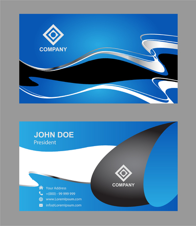 pattern corporate identity orange: Abstract professional designer business card template or visiting card set