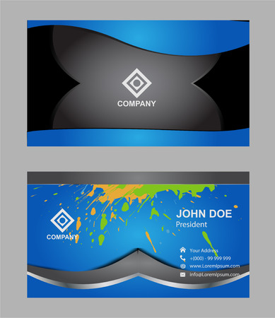uni: Modern simple light business card Illustration