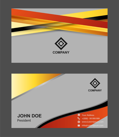pattern corporate identity orange: Professional business card set or visiting card set