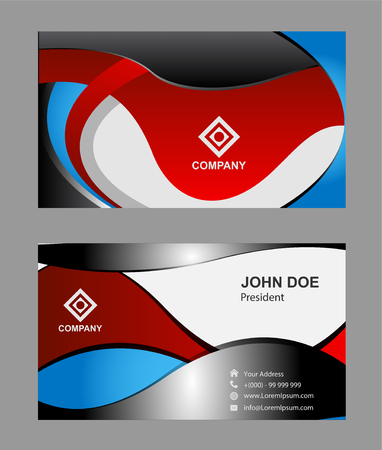 business cards: Red business cards Illustration