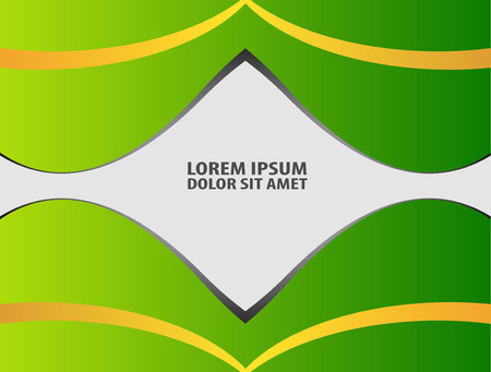 message board: Green paper background overlap dimension vector illustration message board for text and message design modern website