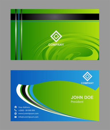 green card: Vector abstract creative business cards