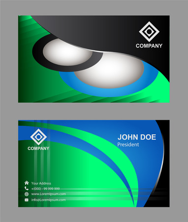 modern business: Modern Business Card design Illustration