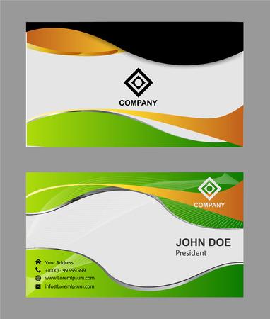 namecard: business card background� Illustration