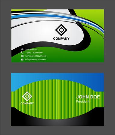 business cards: business cards set� Illustration