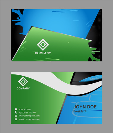 business cards: business cards set