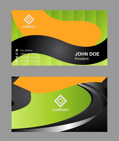 uni: Vector abstract creative business cards