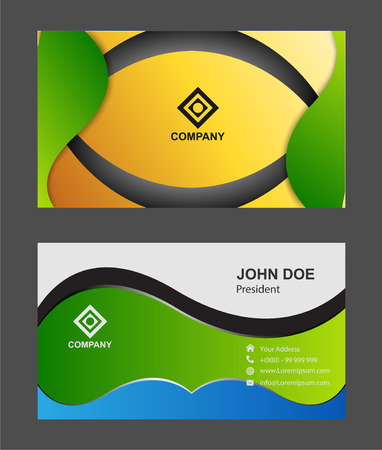 yellow card: Business Card template