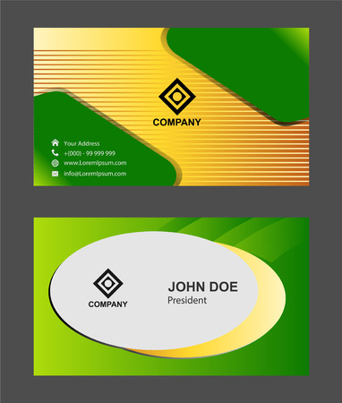 green and black: Green black business card