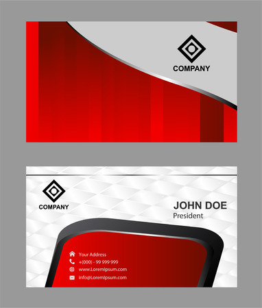 setter: red business card template