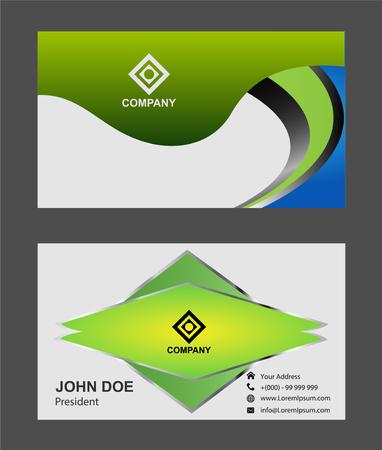 sophisticate: green business card design Illustration