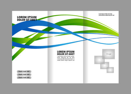 invitation barcode: Tri-fold Brochure Template.Corporate business background or cover design can be use for publishing, print and presentation