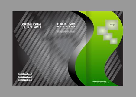 tri fold: Tri Fold Brochure Vector Design Illustration