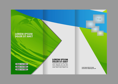 catalog: Tri-fold Brochure and Catalog Vector Design Template