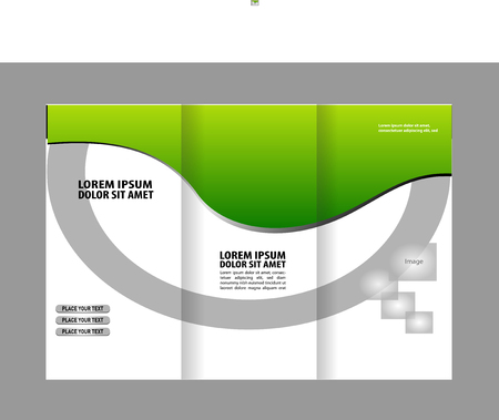 publisher: Vector Tri Fold Brochure Design. Corporate Leaflet, Cover Template