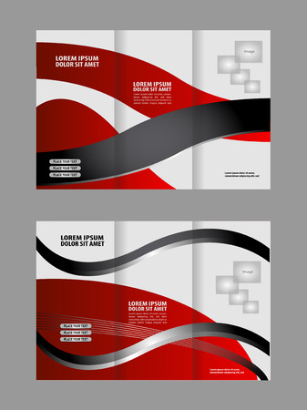 swish: Trifold business brochure print template