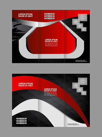 swish: Brochure design template. Abstract background. for business, education, advertisement. Trifold booklet editable printable vector illustration