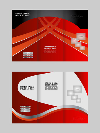 swish: Professional business three fold flyer template, corporate brochure or cover design, can be use for publishing, print and presentation.