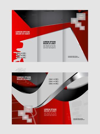 swish: Tri fold brochure template design vector illustration Illustration