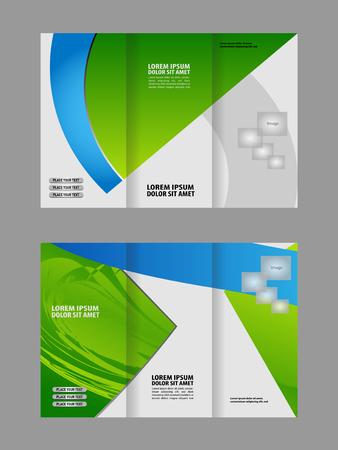 fold: Tri Fold Brochure Vector Design Illustration