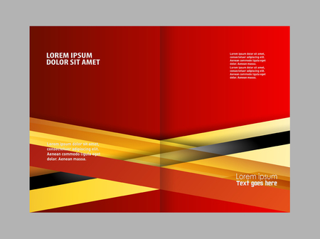 magazine stack: Corporate bi Fold Brochure vector illustration