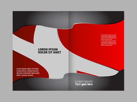 for advertising: Black and red template for advertising brochure