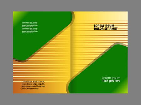 mock up: Bi-Fold Corporate Business Store Mock up & Brochure Design Illustration