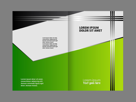bifold: Bi-Fold Corporate Business Store Mock up & Brochure Design Illustration