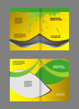 coworker banner: Green brochure template
