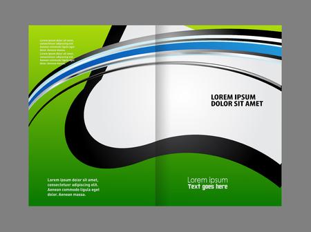 coworker banner: Empty bi-fold brochure template design