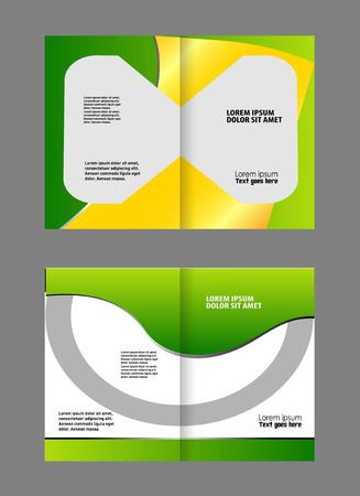 coworker banner: Corporate bi Fold Brochure vector illustration