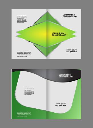 bi: green brochure bi fold template
