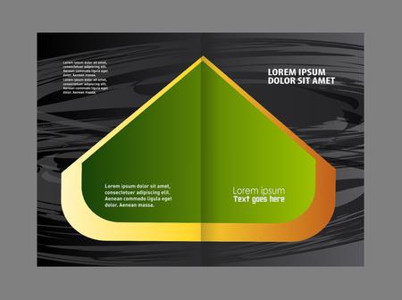 coworker banner: Vector empty bi-fold brochure print template