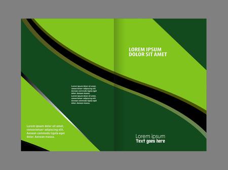 invitation barcode: Catalog or brochure template design