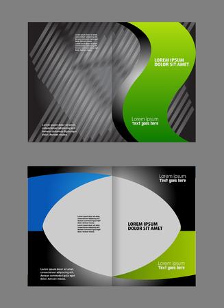 invitation barcode: Colorful Bi-Fold Brochure Design. Corporate Leaflet, Cover Template