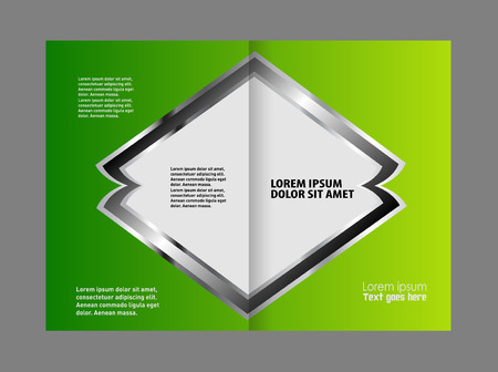 handrail: Black and green template for advertising brochureBlack and green template for advertising brochure