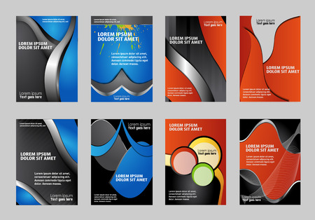 classify: Set of flyer, brochure or magazine cover template