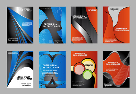 Set of Brochure Flyer design vector template Illustration