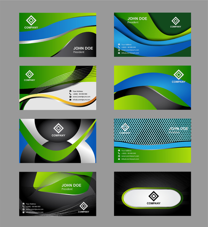 spout: Vector set of modern creative business cards
