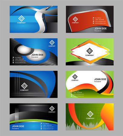 mega phone: Vector set of modern creative business cards