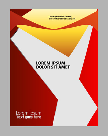 publishing: Professional business design layout template or corporate banner design. Magazine cover, publishing and print presentation. Abstract vector background. Illustration