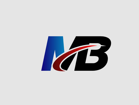 mb: Letter M and B vector,