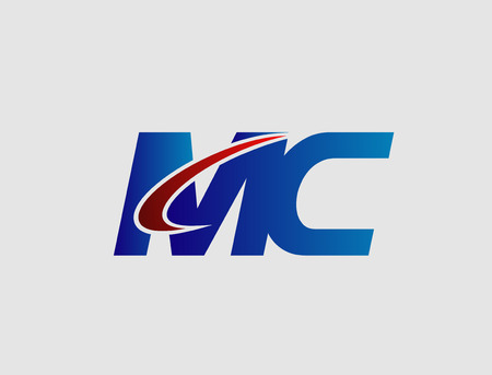 cm: Letter M and C vector