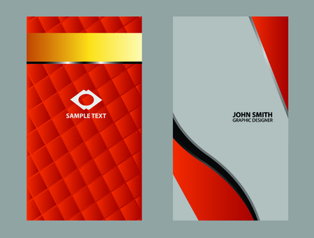 name calling: Vector abstract creative business cards