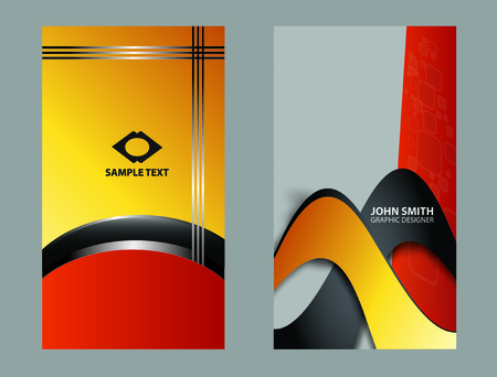 Abstract design business card templates Illustration