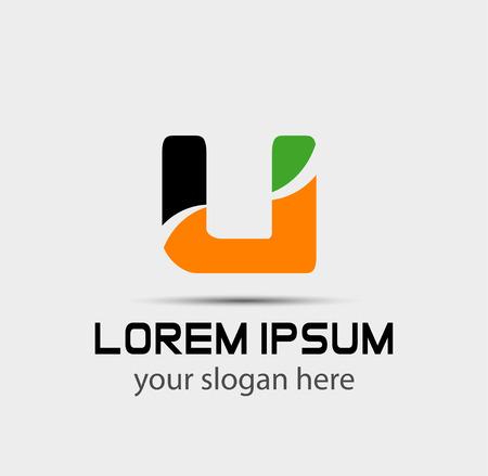 Letter u icon logo design template elements