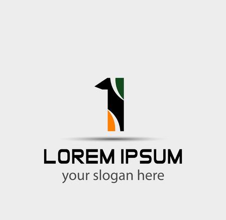 business partner: Number 1 logo. Vector logotype design
