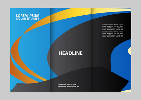 brochure design template colored stripes transparent