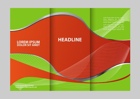 either: Custom tri-fold brochure template Works great for either the inside or outside of the brochure. Illustration